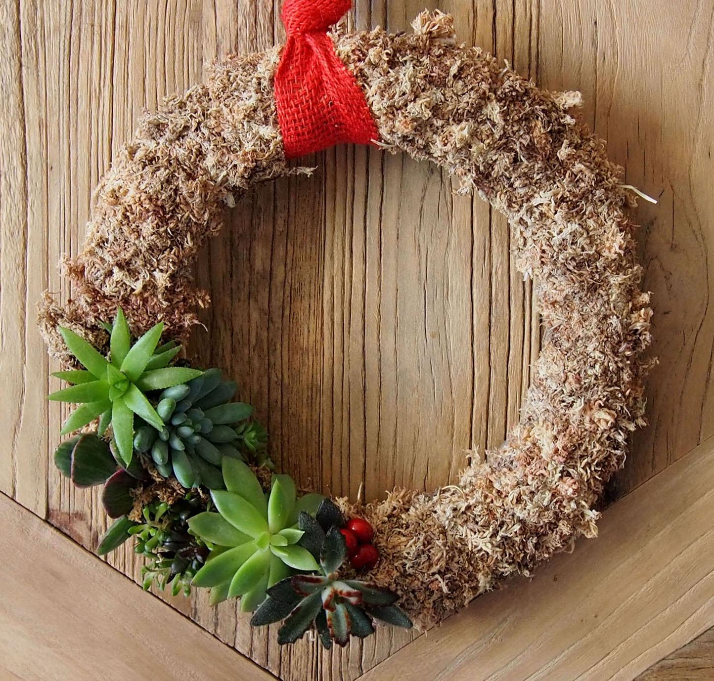 talleres de coronas de navidad vivas rojomenta On coronas de navidad hechas a mano