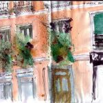Balcones de Malasaña por Urban Sketchers