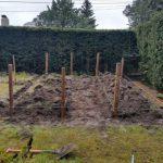 Construcción huerto con traviesas