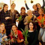 Taller de kokedamas de Rojomenta en Madrid