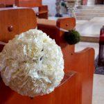 Bolas de flores para decoración de bodas