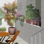 Diseño e instalación de la jardinería de un patio
