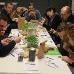 Taller de huerto urbano por Rojomenta en Madrid