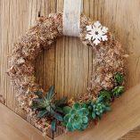 Corona de navidad con plantas de Rojomenta en MAdrid