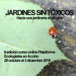 II edición curso on-line Jardines sin Tóxicos