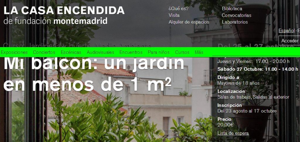 Taller jardinería Madrid