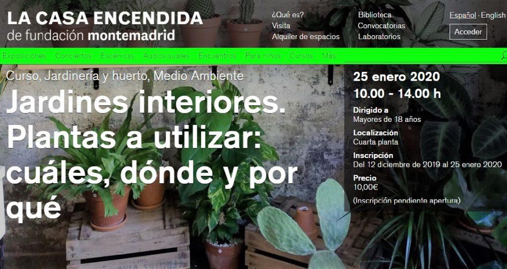 curso plantas de interior Madrid